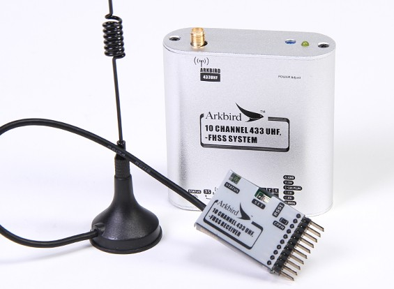Arkbird 433MHz 10 canali FHSS UHF Modulo / Repeater Station con ricevitore