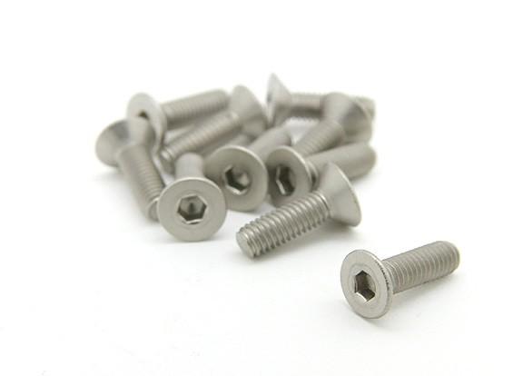 Titanium M3 x 10mm esagono incassato Vite (10pcs / bag)