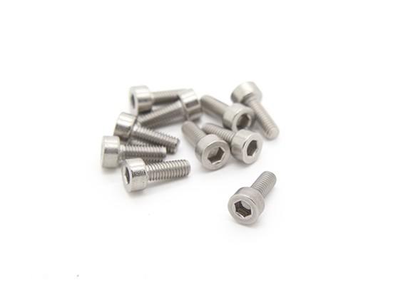 Titanium M3 x 8 Sockethead esagonale Vite (10pcs / bag)