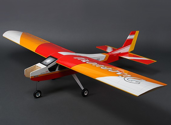 Discovery (Red) Balsa Hi-Wing Trainer GP / EP 1620 millimetri (ARF)