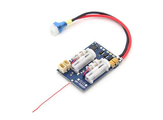 2.4Ghz Sistemi SuperMicro - DSM2 ricevitore compatibile w / Brushless ESC, lineare Servi