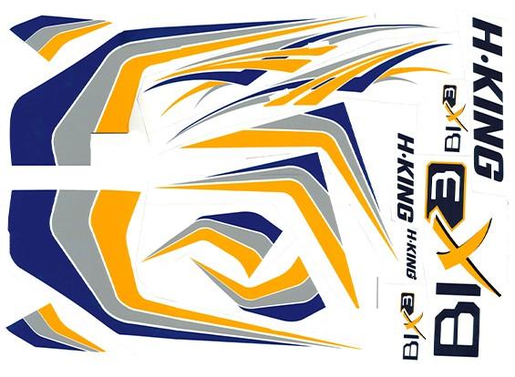 HobbyKing® Bix3 Trainer 1.550 millimetri - Sostituzione Sticker Set