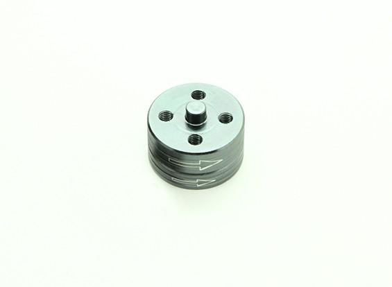 Di alluminio di CNC Quick Release Self-serraggio Prop insieme di adattatori - Titanium (in senso orario)