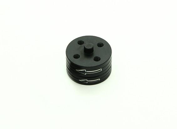 Di alluminio di CNC Quick Release Self-serraggio Prop insieme di adattatori - Nero (in senso antiorario)