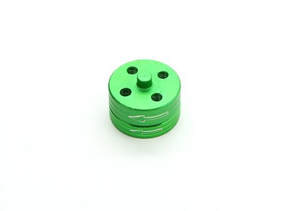 Di alluminio di CNC Quick Release Self-serraggio Prop insieme di adattatori - verde (in senso antiorario)