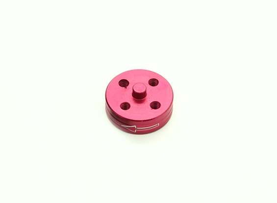 Di alluminio di CNC Quick Release Self-serraggio Prop Adapter - Red (Prop laterale) (in senso antiorario)