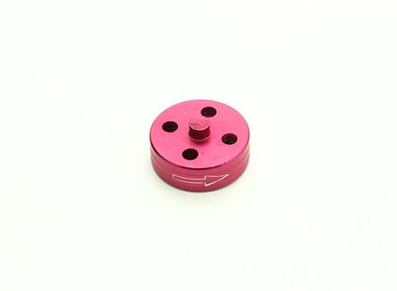 Di alluminio di CNC Quick Release Self-serraggio Prop Adapter - Red (Prop laterale) (in senso orario)