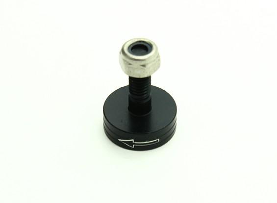 CNC alluminio M6 Quick Release Self-serraggio Prop Adapter - Nero (Prop laterale) (in senso antiorario)