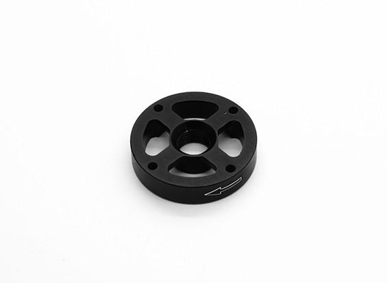 Di alluminio di CNC M10 Quick Release Self-serraggio Prop Adapter - Nero (Prop laterale) (in senso orario)