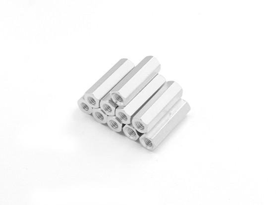 Alluminio leggero Hex Sezione Spacer M3 x 17mm (10pcs / set)
