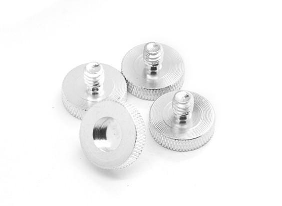 1/4 di pollice in lega di alluminio montaggio della telecamera Viti D19 (4pcs / set)