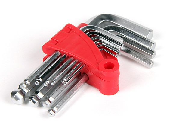 Metric chiave esagonale (chiave a brugola) Set 1.5 ~ 10 millimetri