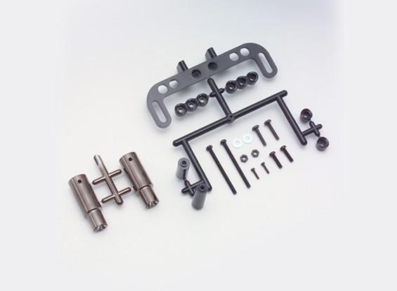 Yokomo realistico Marmitta Set - Gun Metal