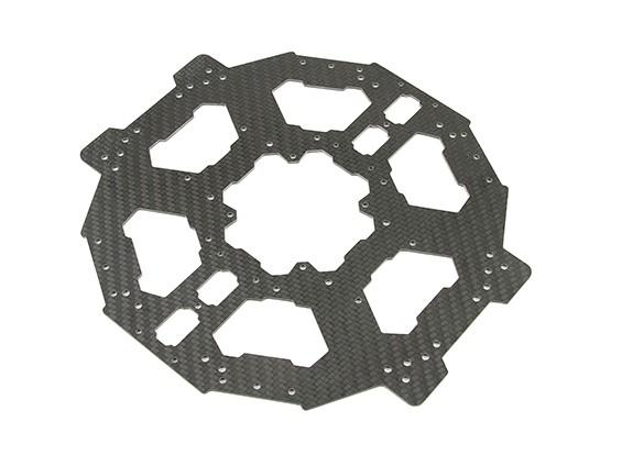 Piastra in fibra di carbonio Tarocchi 680Pro HexaCopter Lower Main