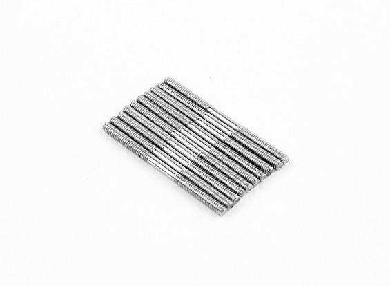 M2x30mm acciaio inossidabile aste di spinta (LH & RH filettato) (10pcs)
