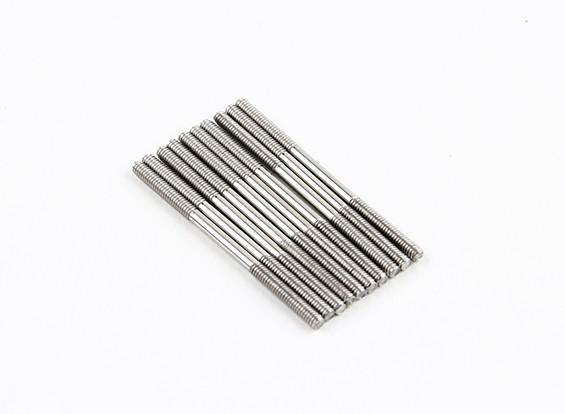 M2x35mm acciaio inossidabile aste di spinta (LH & RH filettato) (10pcs)