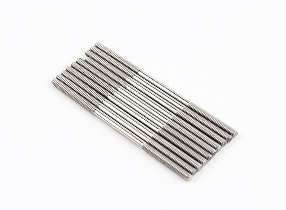 M2x45mm acciaio inossidabile aste di spinta (LH & RH filettato) (10pcs)