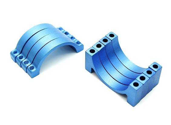 Blu anodizzato CNC alluminio 5 millimetri tubo morsetto 25 mm di diametro (Set di 4)
