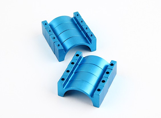 Blu anodizzato Double Sided di alluminio di CNC del tubo morsetto 25mm