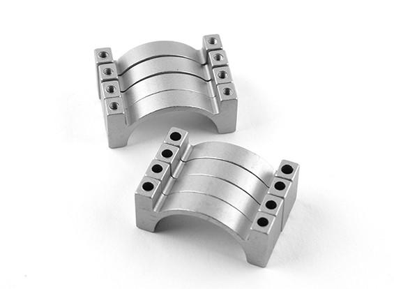 Argento anodizzato Double Sided di alluminio di CNC del tubo morsetto 25mm