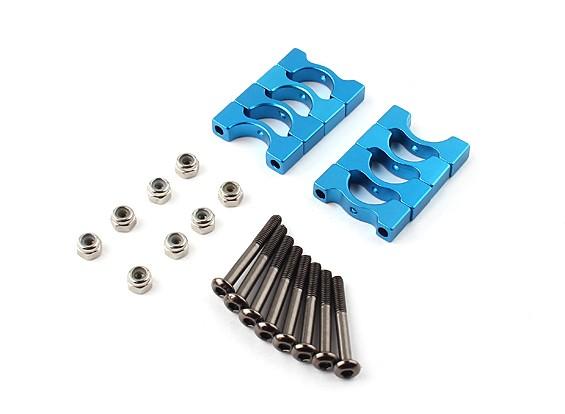 Super Light Blue anodizzato CNC lega tubo morsetto diametro di 10mm (4set)