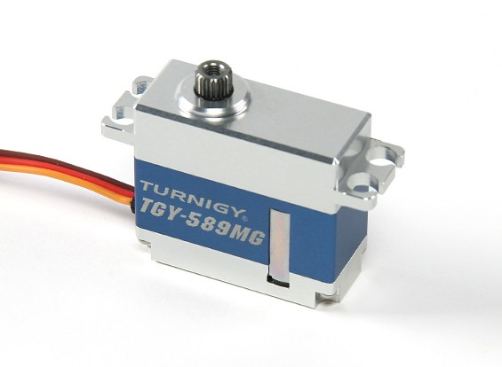 Turnigy ™ TGY-589MG coppia elevata HV / BB / DS / MG Servo w / involucro in lega di 8 kg / 0.09sec / 40g