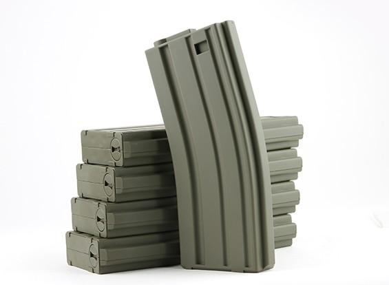 King Arms 120rounds riviste per la serie Marui M4 / M16 AEG (verde oliva, 5pcs / box)