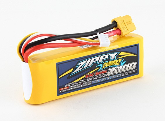 ZIPPY Compact 2200mAh 3S 60C Lipo Confezione