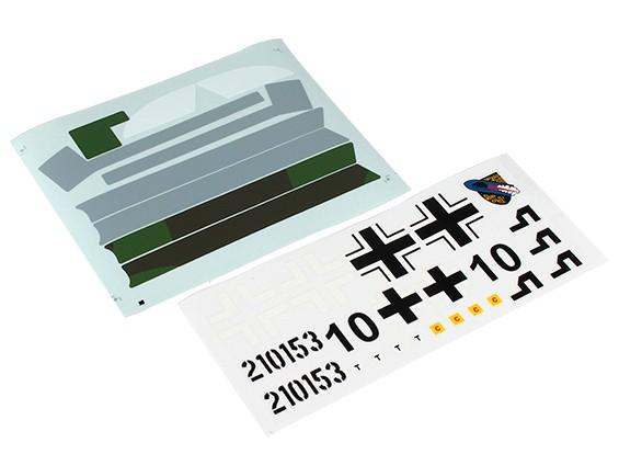Durafly Me-163 950 millimetri - Sticker Set