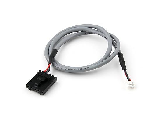 400 millimetri di 5 Pin Molex / JR a 4 pin Bianco schermato Il connettore del cavo