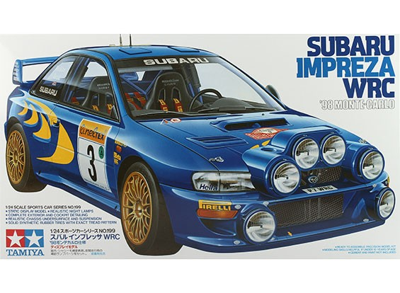 Tamiya 1/24 Scala Subaru Impreza WRC'98 - Kit Monte Carlo plastica Modello