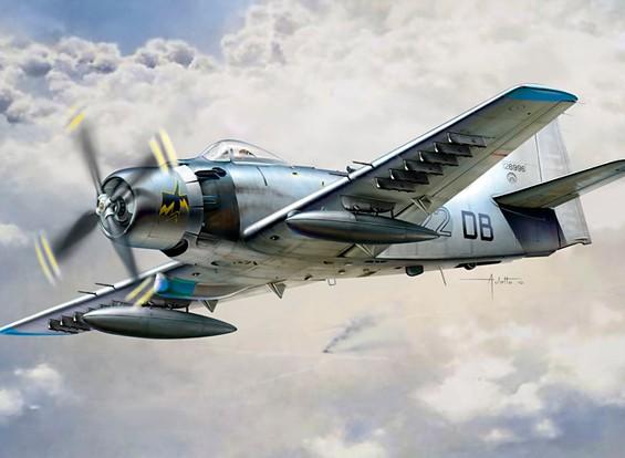 Italeri 1/48 Scale Kit AD-4 Skyraider plastica Modello