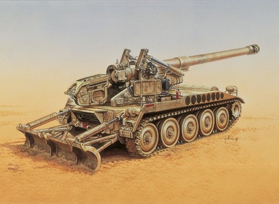 Kit Italeri 1/35 M-110 modello di veicolo A2