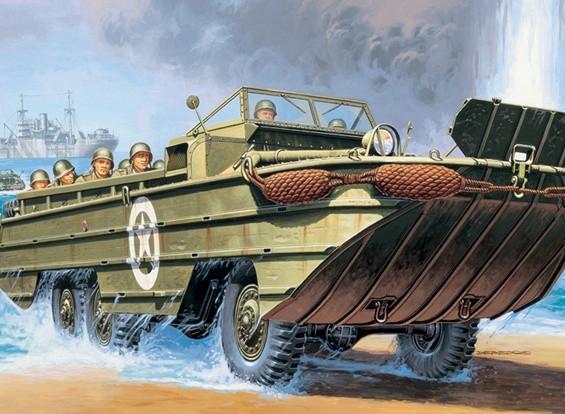 Kit Italeri 1/35 Scala DUKW US Army plastica Modello