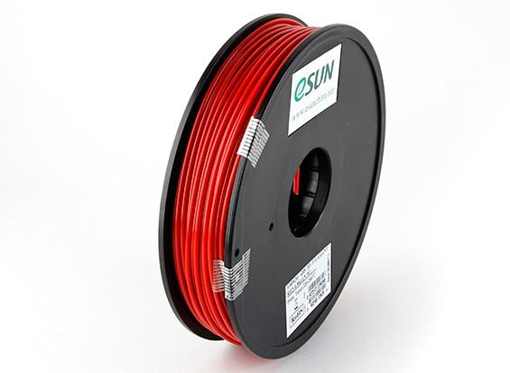 Filament stampante ESUN 3D Red 3 millimetri ABS 0.5KG Spool
