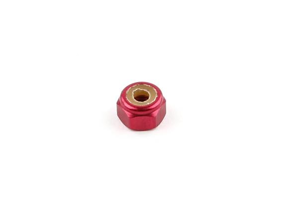 HobbyKing® Rocket Power 650EP - Alu. M4 Nylock Dado (Red)