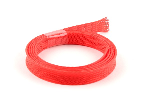 Wire Guardia Mesh rosso al neon 10mm (1m)