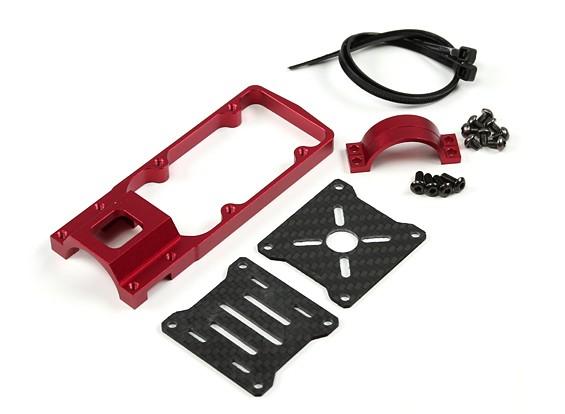 CNC Motor Mount per DIY Multi-rotori 25 millimetri Tube (Red)