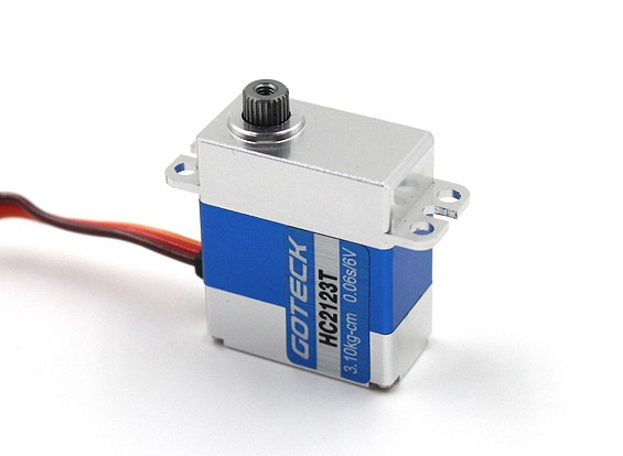 Goteck HC2123T HV digitale MG metallo Cased Mini Servo 20g / 3,7 kg / 0.05sec