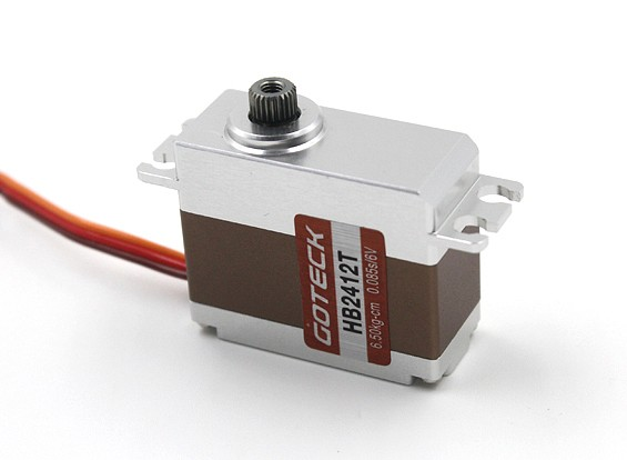 Goteck HB2412T HV Digital Brushless MG metallo Cased auto Servo 7.5kg / 0.07sec / 35g