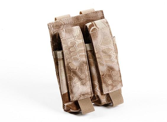 SWAT 500D nylon Molle Pistola doppio Mag Pouch (Kryptek Nomad)