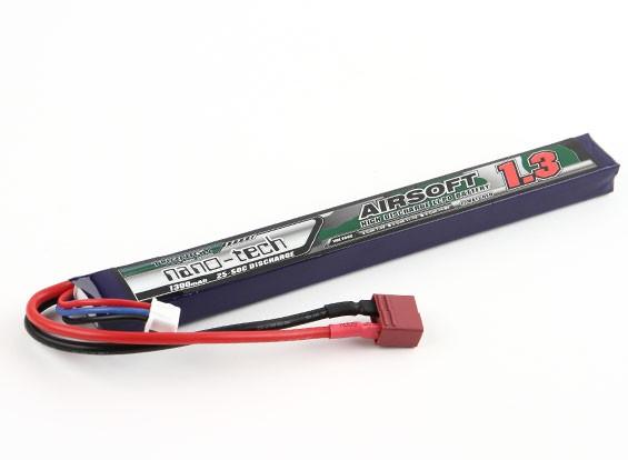 Turnigy nano-tech 1300mAh 2S 25 ~ 50C Lipo AIRSOFT Pack (connettore a T)
