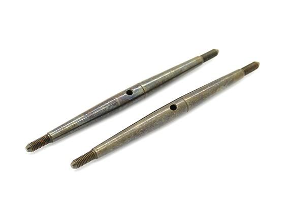 Trackstar 1/10 molla in acciaio Turnbuckle M3x75 (2 pezzi)