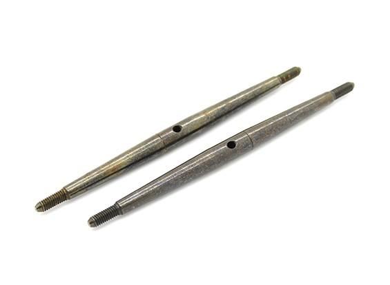 Trackstar 1/10 molla in acciaio Turnbuckle M3x80 (2 pezzi)
