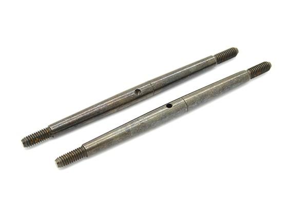 Trackstar 1/8 molla in acciaio Turnbuckle M4x85 (2 pezzi)