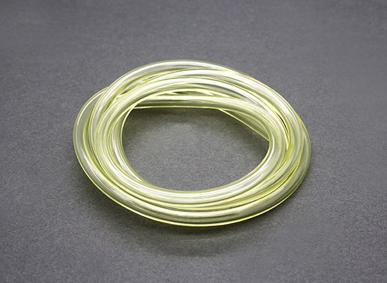 tubo del carburante in silicone (1 mtr) 6x3mm Yellow (Nitro & Gas Motori)