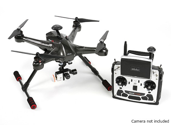 Walkera Scout X4 FPV Quadcopter con Devo F12E, G-3D giunto cardanico (versione GoPro) (Ready per volare)