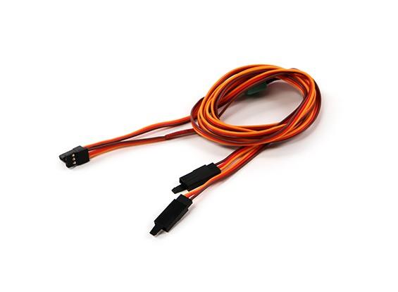 Ala Servo connettore 2xMale / 2xFemale JR con D-0953 MPX 880 millimetri di lunghezza (2 pezzi)