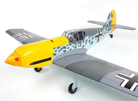 Messerschmitt BF-109 tedesco Fighter GP / EP 1560 millimetri (ARF)