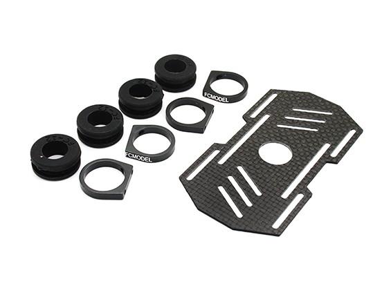 Carbon multi-rotore Monte batteria con gomma Damping Suits 12mm Bracci